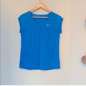 Nike Sleeveless Drifit Top in Blue - Size Large